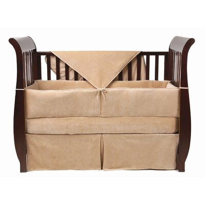 4 Piece Organic Cotton Velour Crib Bedding Set