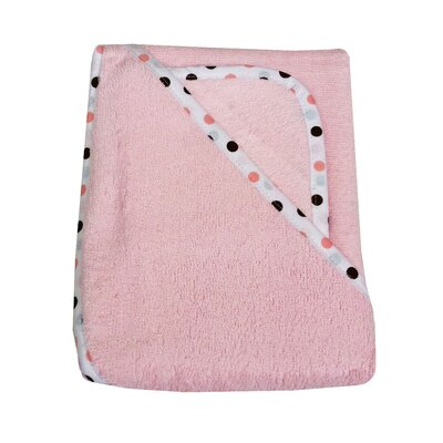 Organic Terry Hooded Towel Set in Pink