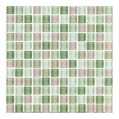 "Interceramic Shimmer Blends 1"" x 1"" Glossy Mosaic in Garden"