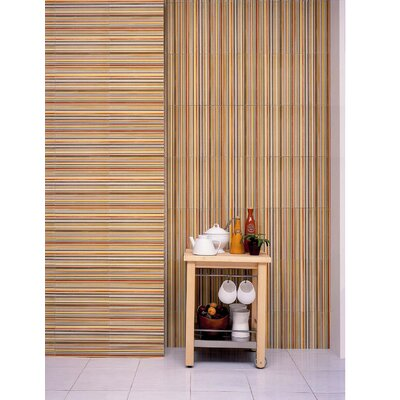 "Interceramic Aquarelle 12"" x 18"" Ceramic Wall Tile in Red Insert Stripes"