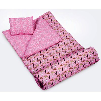 Horses in Pink Sleeping Bag