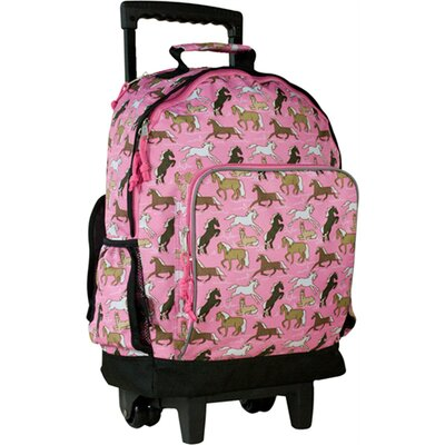 Horses in Pink High Roller Rolling Backpack
