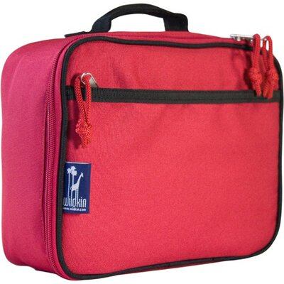 Wildkin Solid Colors Straight-Up Lunch Box in Red