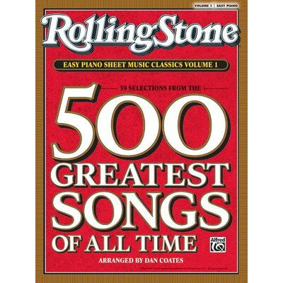 Alfred Publishing Company Rolling Stone Easy Piano Sheet Music Classics, Volume 1 39 Selections from the 500 Greatest Songs of All Time