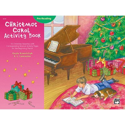 Alfred Publishing Company Christmas Carol Activity Book - Pre-reading