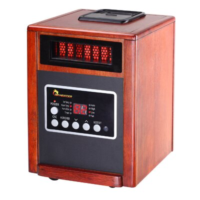 Dr. Infrared Heater Elite Series 1,500 Watt Infrared Cabinet Space Heater with Humidifier