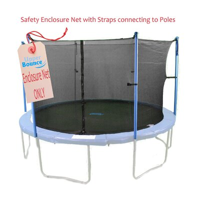 Upper Bounce 14'  Trampoline Enclosure Safety Net Fits For 14 FT. Round Frames Using 4 Poles or 2 Arches (Poles Not Included)