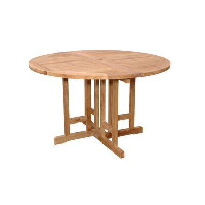 Features Dining Table Material Teak Wood Can Be Folded Half Round
