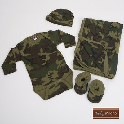 4 Piece Baby Clothes Gift Set in Army Camouflage