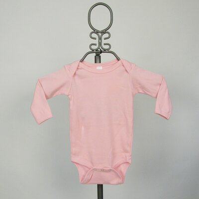 Long Sleeve Infant Bodysuit in Light Pink
