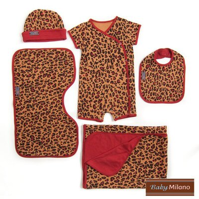 5 Piece Gift Set in Leopard Print