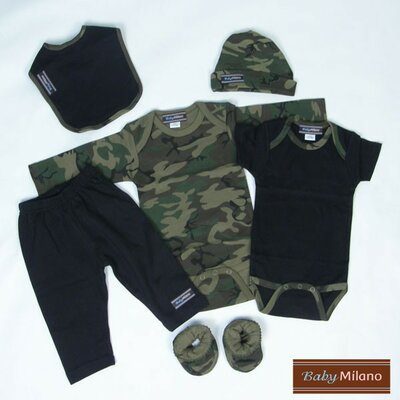 6 Piece Baby Clothes Gift Set in Camouflage