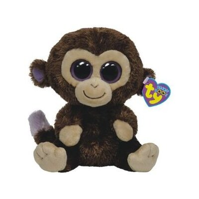 TY Beanie Babies Monkey in Coconut Brown