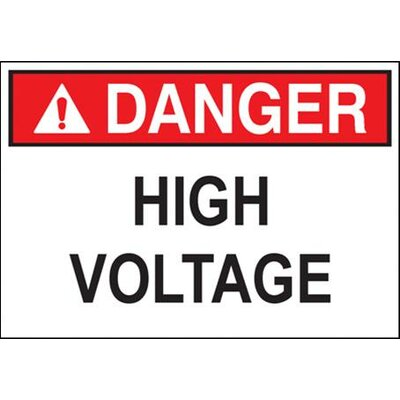 Morris Products 'Danger High Voltage' Safety Signs
