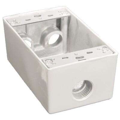 "Morris Products Weatherproof Boxes in White with 0.5"" Outlet Holes"