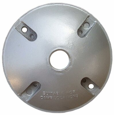 "Morris Products 4"" Round Weatherproof Covers in Gray"