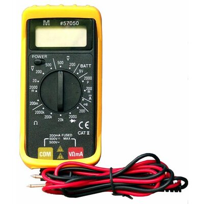 Morris Products Super Mini Digital Multi Meter with Rubber Holster