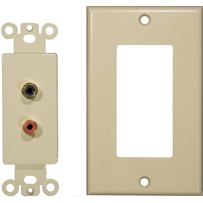 Morris Products Double RCA Sound System Plates in Ivory