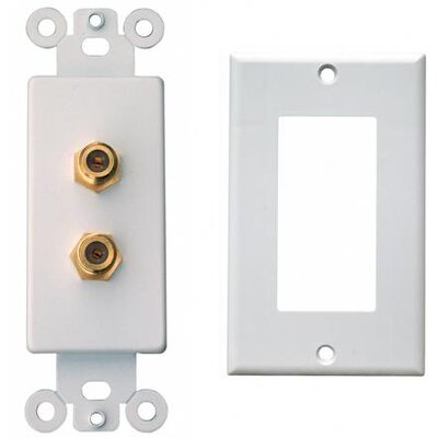 Morris Products Double Coax Sound System Plates in White
