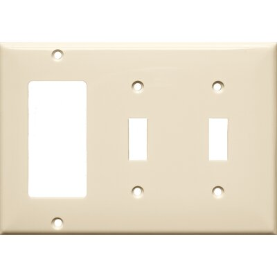 Morris Products 3 Gang 2 Toggle 1 GFCI Lexan Wall Plates in Almond