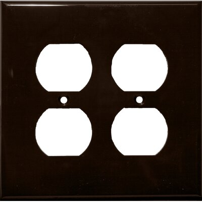 Morris Products 2 Gang Midsize Receptacle Lexan Wall Plates in Brown