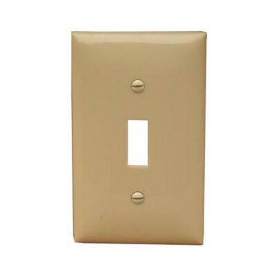 Morris Products 1 Gang Oversize Lexan Wall Plates for Toggle Switch in Ivory