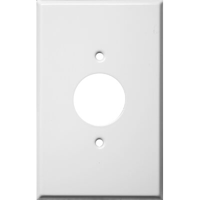 Morris Products Oversize 1 Gang Single Receptacle Wall Plate in White