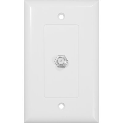 Morris Products One-Piece Decorator Cable TV Jack in White