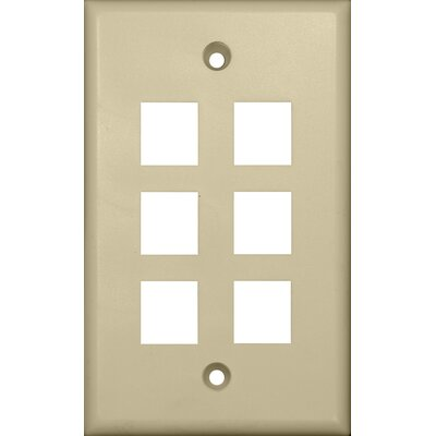 Morris Products Six Port Wall Plate in Ivory