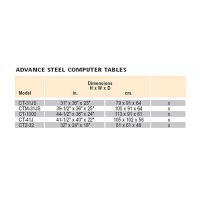Da-Lite CT-31JS Steel Computer Table