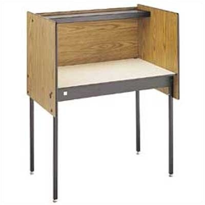 Da-Lite Beta Particle Board Study Carrel Desk Starter