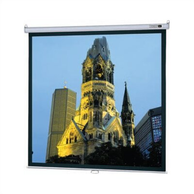 "Da-Lite High Contrast Matte White Model B Manual Screen with CSR - 57"" x 77"" Video Format"