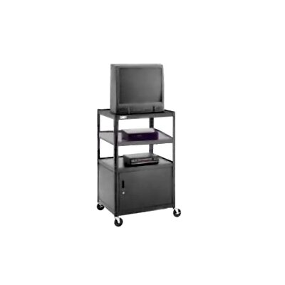 "Da-Lite Pixmate 25"" x 30"" Multi Shelf Television Cart With Cabinet [48"" Height]"