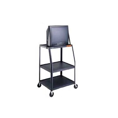"Da-Lite Pixmate 22"" x 32"" Height Adjustable Shelf Television Cart [45"" - 49"" Height]"