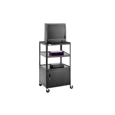 "Da-Lite Pixmate 25"" x 30"" Shelf Television Cart With Cabinet [54"" Height]"