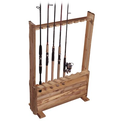 Hanging / Standing 8 Fishing Rod Rack with Single Cabinet