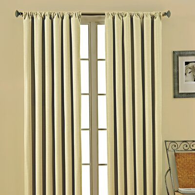 Eclipse Curtains Theodore  Rod Pocket Window Curtain Single Panel