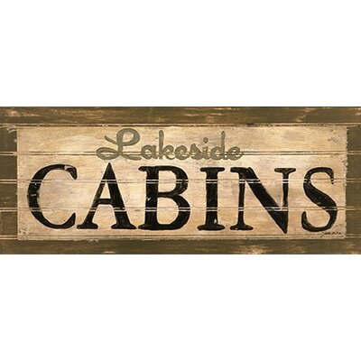 Art 4 Kids Lakeside Cabins Wall Art