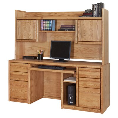 "Martin Home Furnishings Contemporary 36"" H x 66.75"" W Desk Hutch"