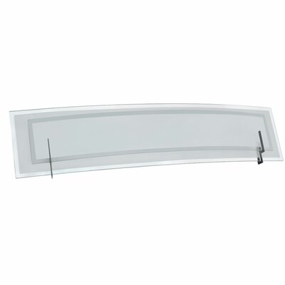 Dainolite Clear/Frosted Glass Three Light Bath Vanity in Satin Chrome