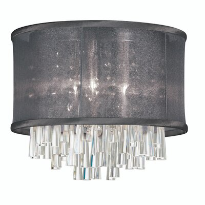 Dainolite 4 Light Crystal Flush Mount