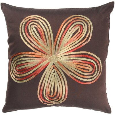 "Rizzy Home T-2333 18"" Decorative Pillow in Brown"