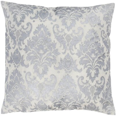 "Rizzy Home T-3593 18"" Decorative Pillow in Silver White"