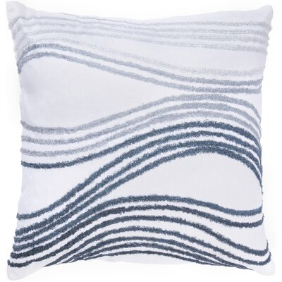 "Rizzy Home T-2228B 18"" Decorative Pillow in White"