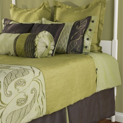 Rizzy Home Amazon Bedding Set in Olive Green / Brown