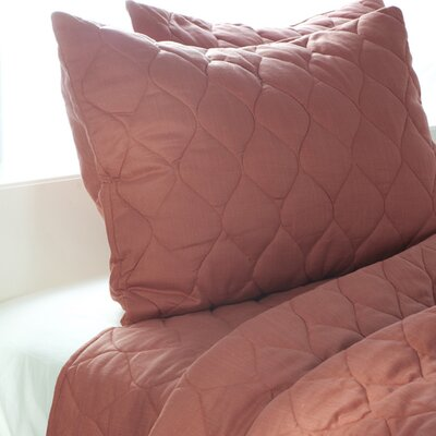 Rizzy Home Solid Quilt 3 Piece Quilt Set in Paprika