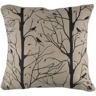 Rizzy Home Natural and Black Decorative Pillow