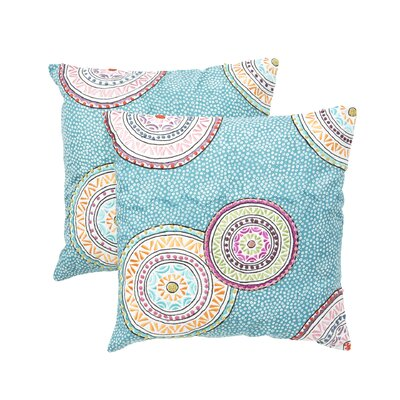 Teal and Orange / Purple Decorative Pillow