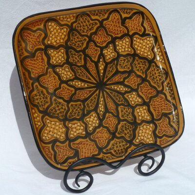 "Le Souk Ceramique Honey Design 11.5"" Square Platter"
