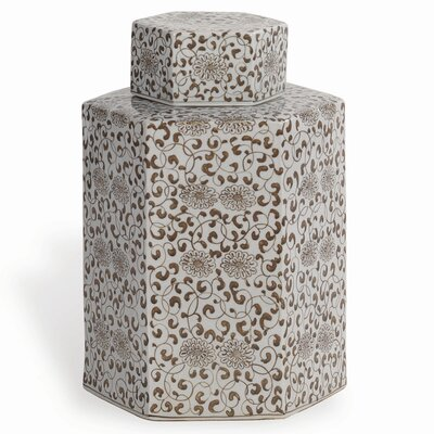Port 68 Double Flower Tea Caddy Jar